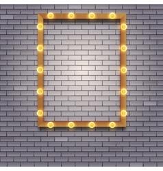 Light bulb frame with space vector