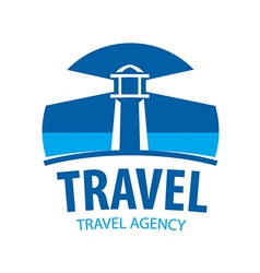 Logo beacon indicating travel vector