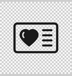 Loyalty card icon in flat style reward on white vector
