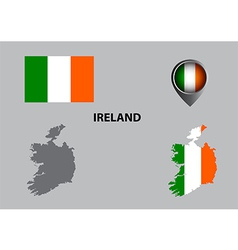 Map of Ireland and symbol vector