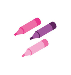 Markers makeup product isolated icon vector