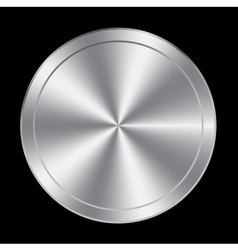 Metal button icon vector image