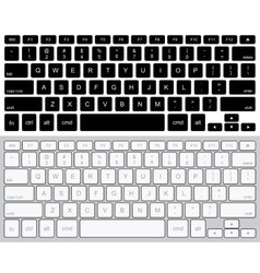 modern computer keyboards background vector image