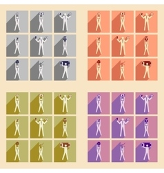 Modern flat icons collection Stick Figure vector