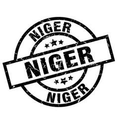 Niger black round grunge stamp vector
