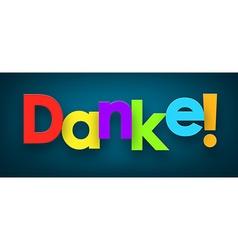 Paper danke sign vector