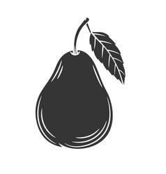 Pear glyph icon vector