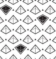 pyramid isometric pattern vector image