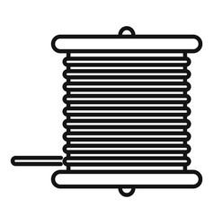 Radio wire bobine icon outline style vector