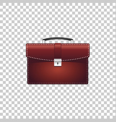 realistic briefcase red for business isolated vector image