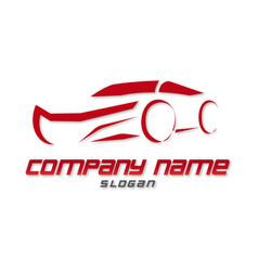 Red car logo vector