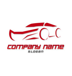red car logo vector image