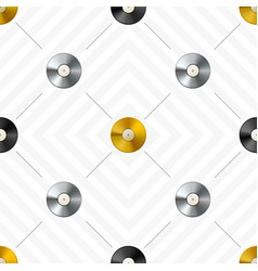 retro seamless pattern with golden and platinum vector image