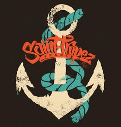 Saint-tropez t-shirt print design vector