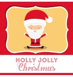 santa claus cute frame character icon vector image