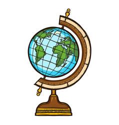 school globe isolated elementary school equipment vector image