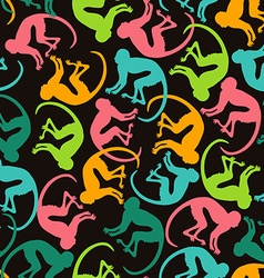 Seamless Pattern With Colorful Monkey vector image
