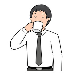Set man drinking vector