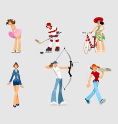 set of different women vector image