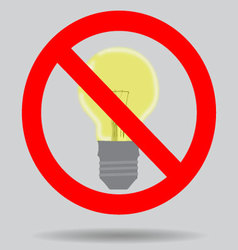 Sign off the light to save electricity vector image