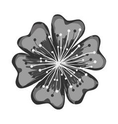 single flower icon image vector image