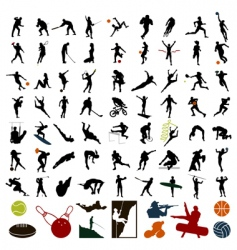 Sports people vector