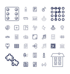 Square icons vector