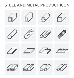steel pipe icon vector image