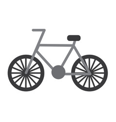 bicycle recreation travel transport icon vector image vector image