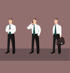 collection of standing businessmen in tie vector image vector image