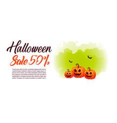 halloween sale offer design template vector image