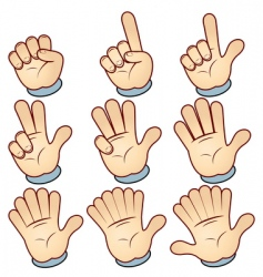 hand count vector image vector image