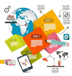 Infographics Perspective Design Infographic Layout vector image vector image