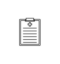 medical clipboard line icon medical form vector image vector image