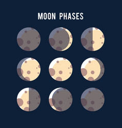 Phases of the moon light background vector