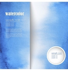 watercolor background with space for text vector image