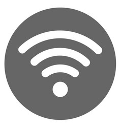 wifi icon gray vector image
