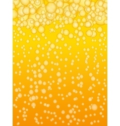 Beer background with bubbles vector image