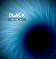 Black hole and wavy rays vector image