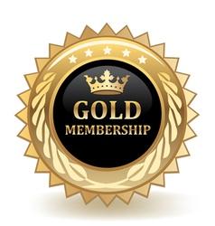 Gold membership badge vector