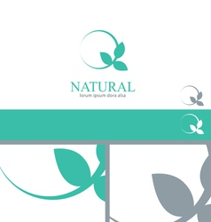 Wellness Mint Menthol Leaves Logo Concept Design vector image