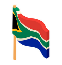 african flag icon isometric style vector image vector image