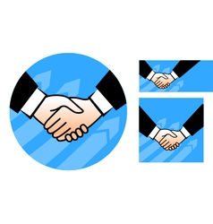 hand shake conception vector image