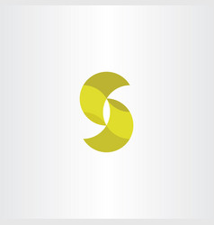 letter s icon logotype yellow sign vector image