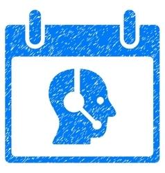 Operator Calendar Day Grainy Texture Icon vector image