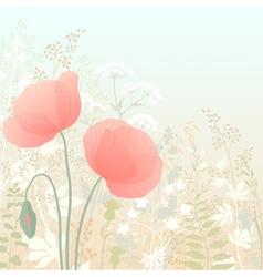 Wild poppies vector image vector image