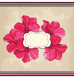 Beautiful floral patternSpring background vector image