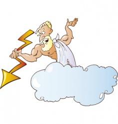 greek god zeus vector image vector image