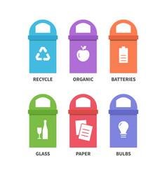 recycle waste bins vector image