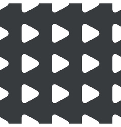 Straight black play button pattern vector